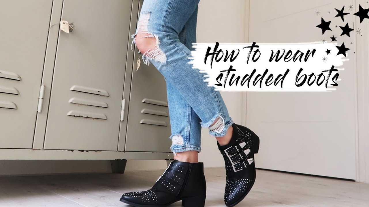 How to wear - Studded ankle boots - YouTube