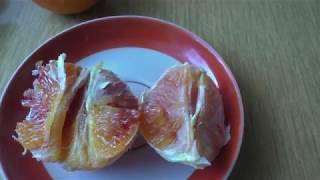 Кровавый апельсин необычный фрукт пробуем помесь мандарина с грейпфрута