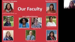 Virtual Fall Open House Webinars: Education