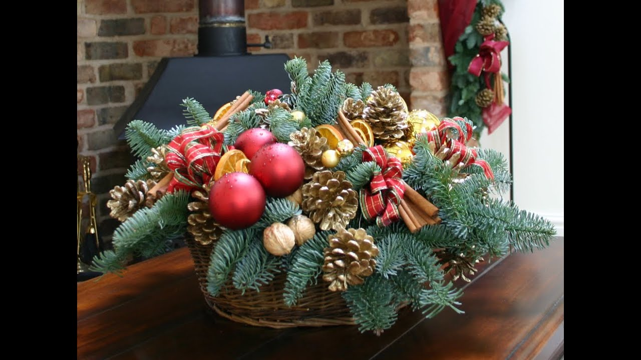 christmas flower arrangements and christmas bouquets by london, Natural flower