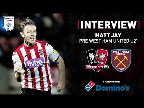💬 Matt Jay pre West Ham United under-21s in the Leasing.com Trophy