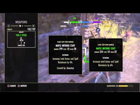 The Elder Scrolls on line: Tamriel Unlimited PS4 – Woodworking guide – Guida al Woodworking