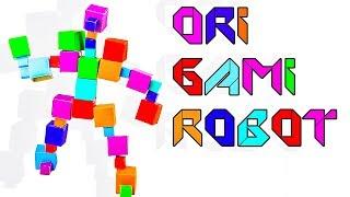 Origami Robot Fun Video For Kids Smile & Nursery Rhymes thumbnail