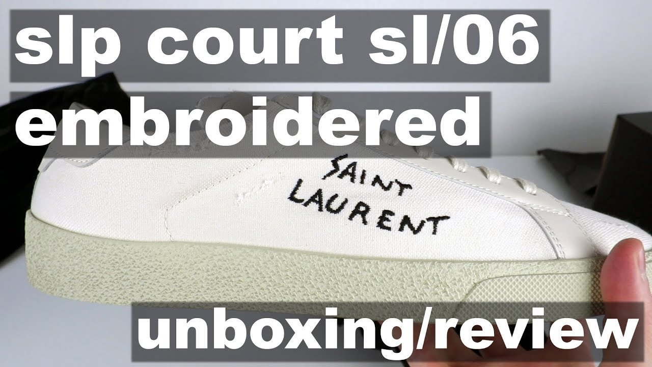 6b4e8fe5d Saint Laurent Court SL 06 Embroidered - Unboxing