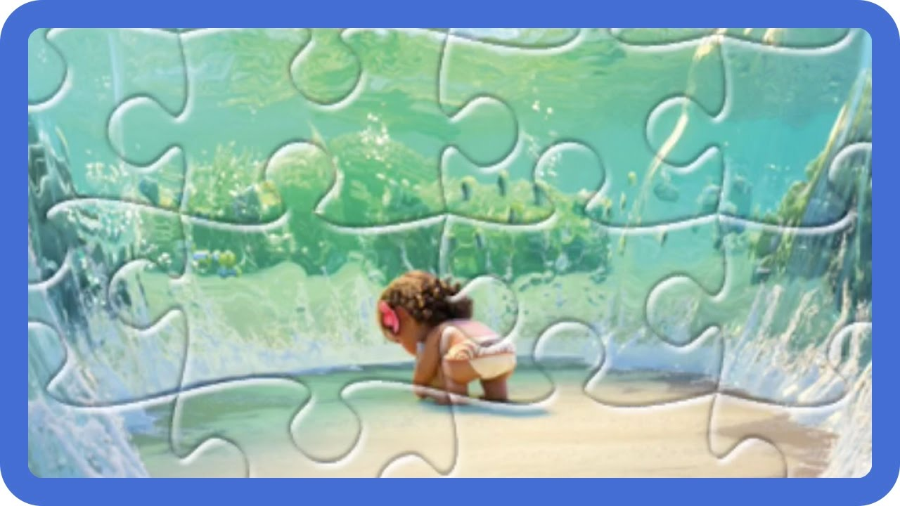 Moana Disney Jigsaw Puzzles | Baby Moana Finding Heart of ...