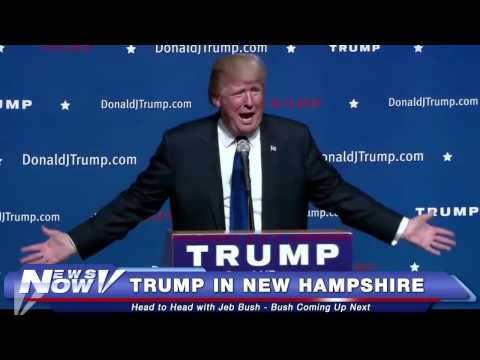 FNN: Donald Trump Town Hall in New Hampshire Talks to Crowd for First Time