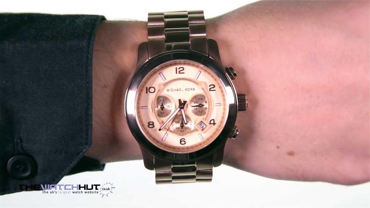 56538195b991 Michael Kors Gents Rose Gold Tone Steel Bracelet Watch MK8096 - YouTube