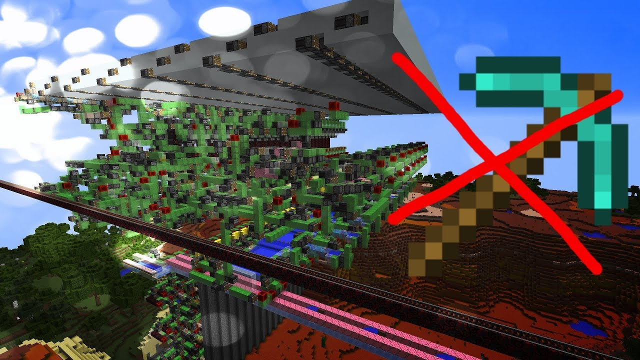 FASTER THAN MINING! Super Quarry (Vanilla Minecraft)