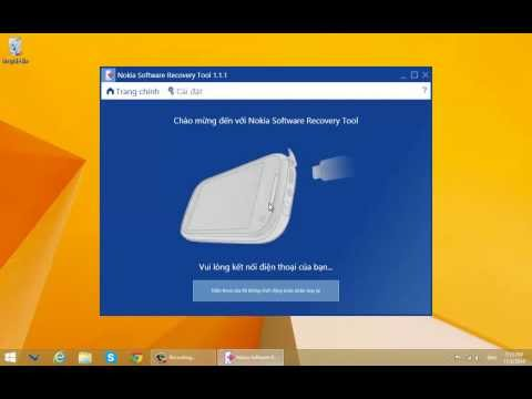 Sử dụng Nokia Software Recovery Tool 1.1.1