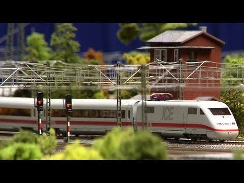 TT Scale Model Railway Layout with High Speed Trains