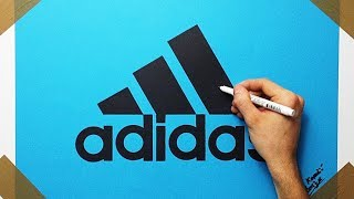 Video How to Draw the Adidas Logo On Blue Paper With Black Marker download MP3, 3GP, MP4, WEBM, AVI, FLV Juni 2018