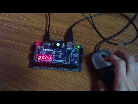 Interface a mouse with Basys 3 FPGA fpga4student com - YouTube