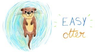 HOW TO DRAW A OTTER (EASY WAY) / COMMENT DESSINER FACILEMENT UNE LOUTRE