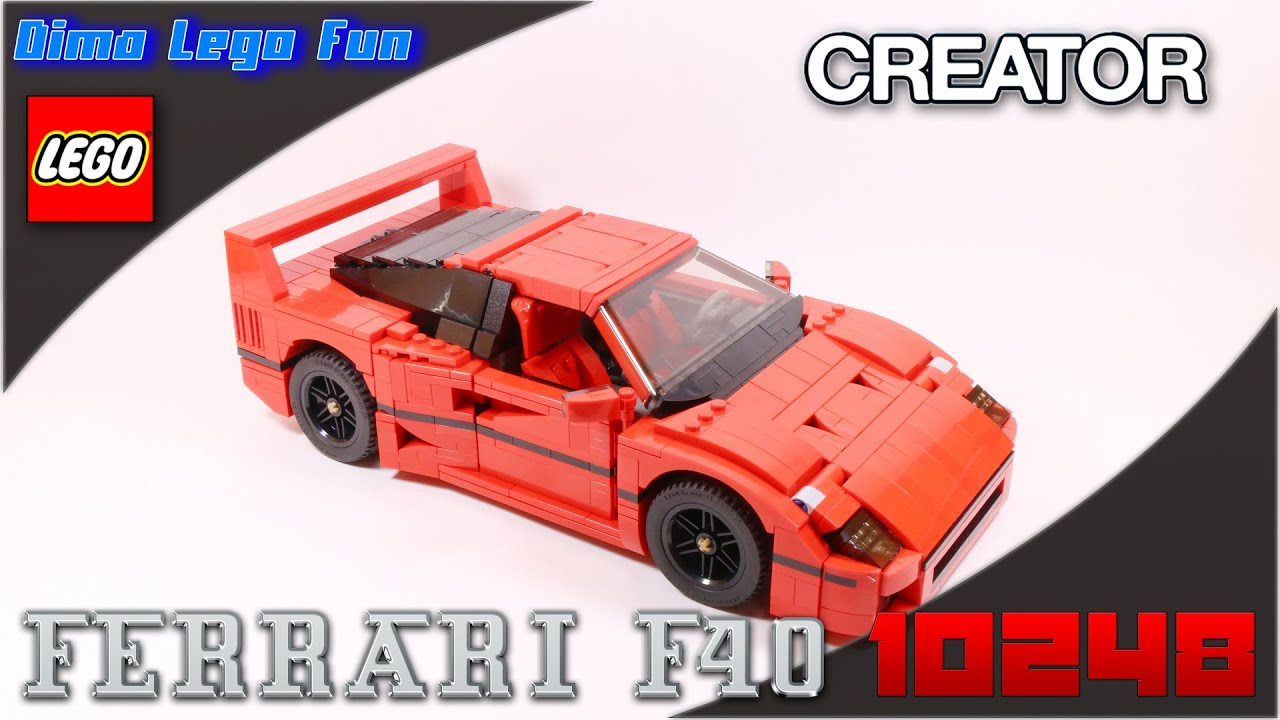 lego creator 10248 ferrari f40 youtube. Black Bedroom Furniture Sets. Home Design Ideas