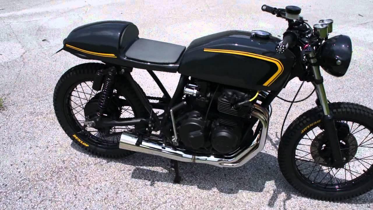 "1975 honda cb400 cafe racer ""yellow"" - youtube"