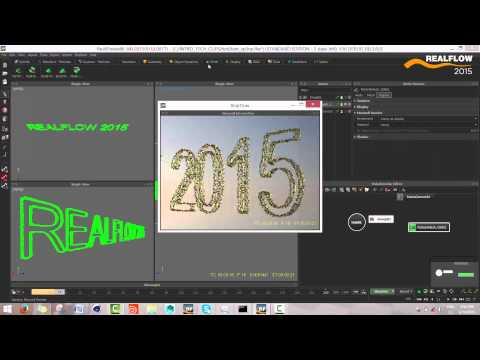 RealFlow 2015 Features: TEXT TOOL