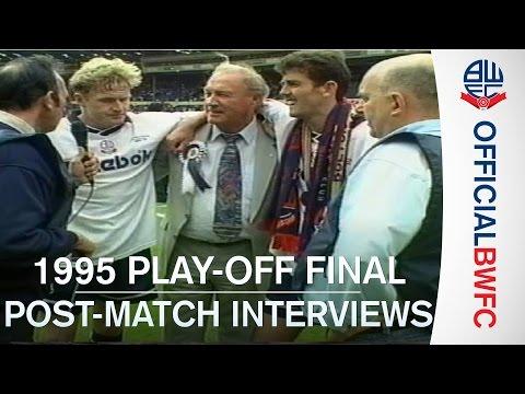 GOLDEN GOALS | Bolton 4-3 Reading post-match interviews (1995 Play-off final)