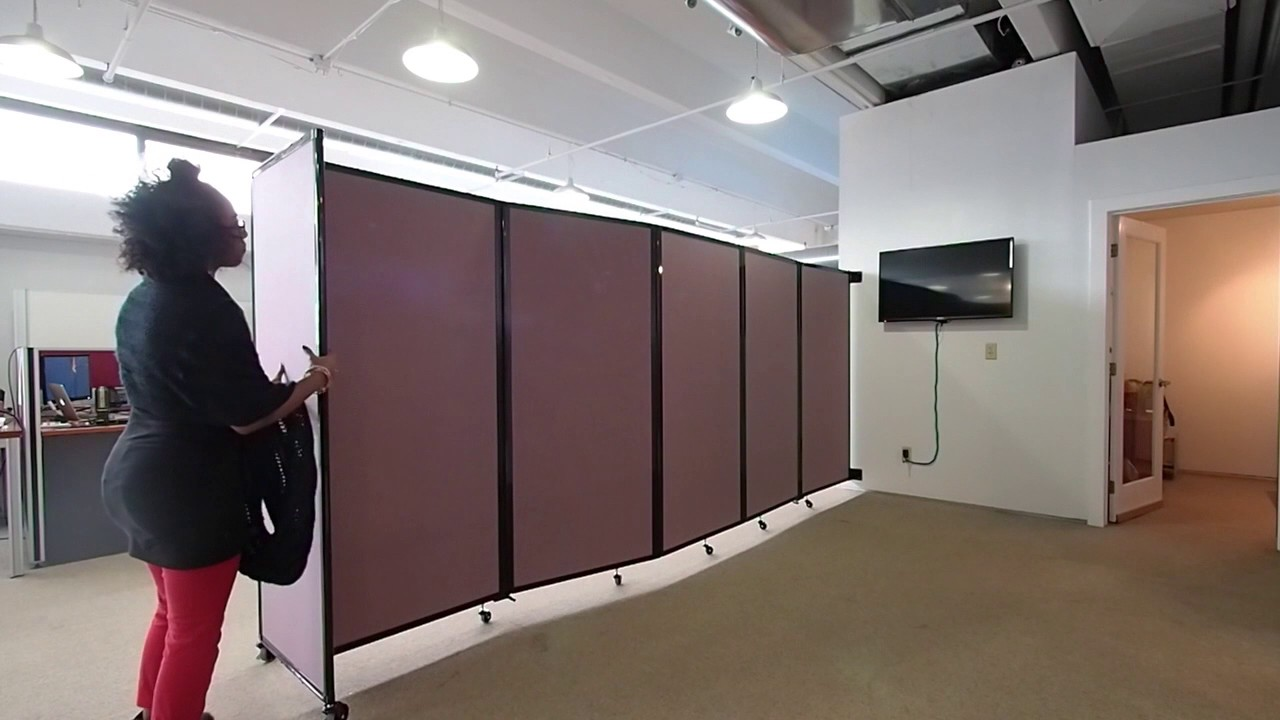 Superior Create Instant Office Space With A Wall Mounted Room Divider   YouTube