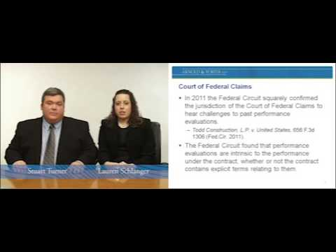 GovCon OnDemand: Proposal to Eliminate Right to Agency Appeal of Past Performance Evaluations