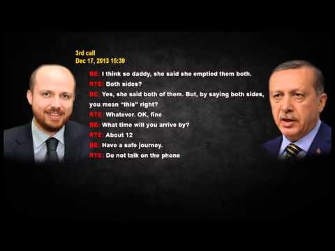 Recep Tayyip Erdogan's dialog with his son Bilal about their own corruption...