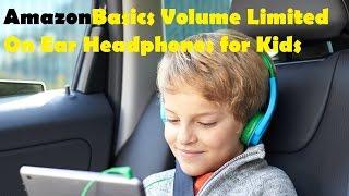 AmazonBasics Volume Limited On Ear Headphones for Kids   BlueGreen