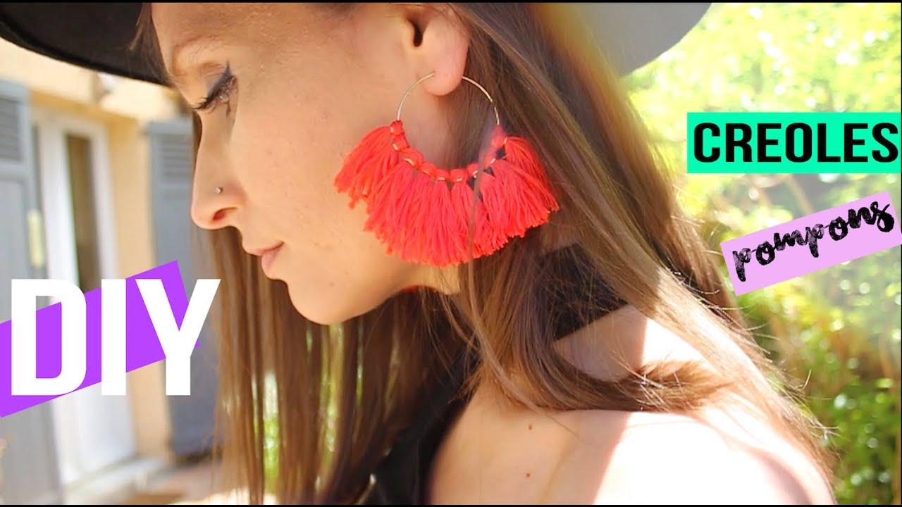 diy┋boucles d'oreilles pompons #summerchallenge - diy francais