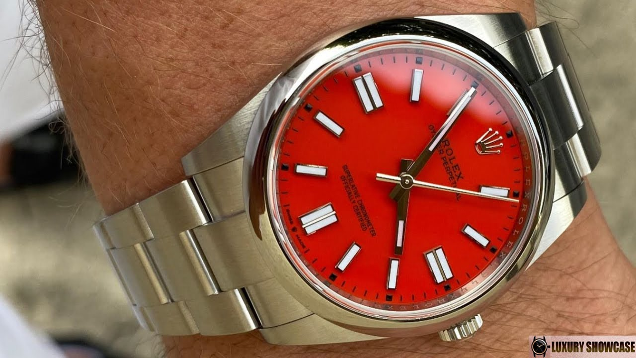 New 2020 Rolex Oyster Perpetual 124300 Coral red 41 mm Oystersteel | Wrist shot by watchtradingco