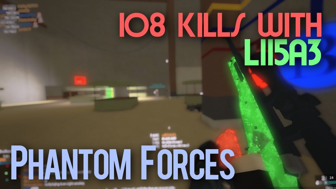 The New Aws In Phantom Forces Roblox By Paradox Poke 108 Kills With The L115a3 In Phantom Forces Roblox Youtube