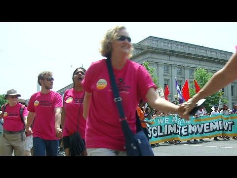 Thousands gather in protest at People's Climate March