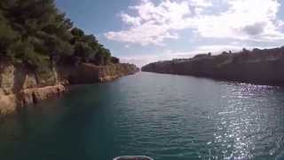 Passage through the Corinth Canal with SY-Kolibri