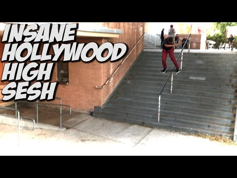 LIL KIDS SKATE HOLLYWOOD HIGH 16 STAIR !!! - A DAY WITH NKA -
