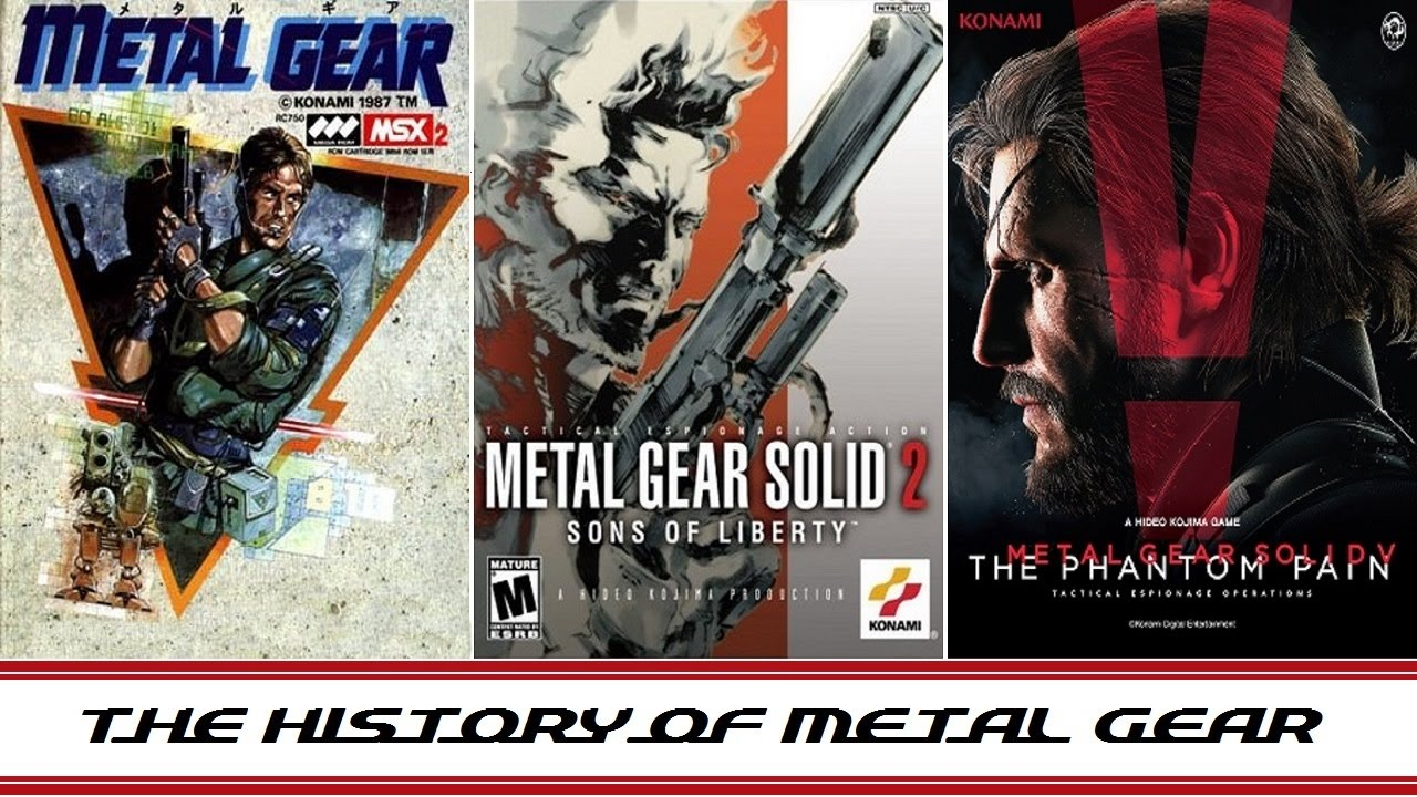 History of Metal Gear Solid MGS 1987 2015 YouTube