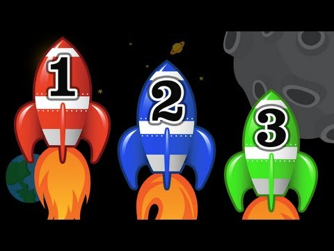 Number Counting Space Ships - Kids Learn to Count Numbers 1 to 10