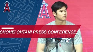 Shohei ohtani discusses his key three-run triple in the angels win over royals and giving bat to a fan before gameabout major league baseball: ma...