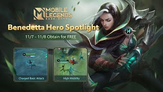 Hero Spotlight | Benedetta | Shadow Ranger | Mobile Legends: Bang Bang