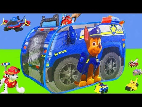 Pat' Patrouille jouets Mission de sauvetage de pompier de Marcus, Chase, Ryder & Ruben