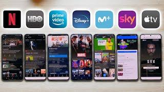 Netflix vs HBO vs Prime Video vs Disney Plus vs Sky vs Movistar vs Apple TV Plus ¿Cual es MEJOR?
