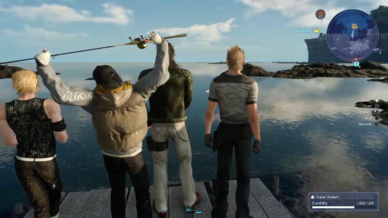 Final fantasy xv fishing glitch youtube for Final fantasy 15 fishing