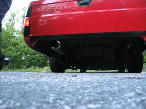 full exhaust on my nissan hard an led foglights - YouTube