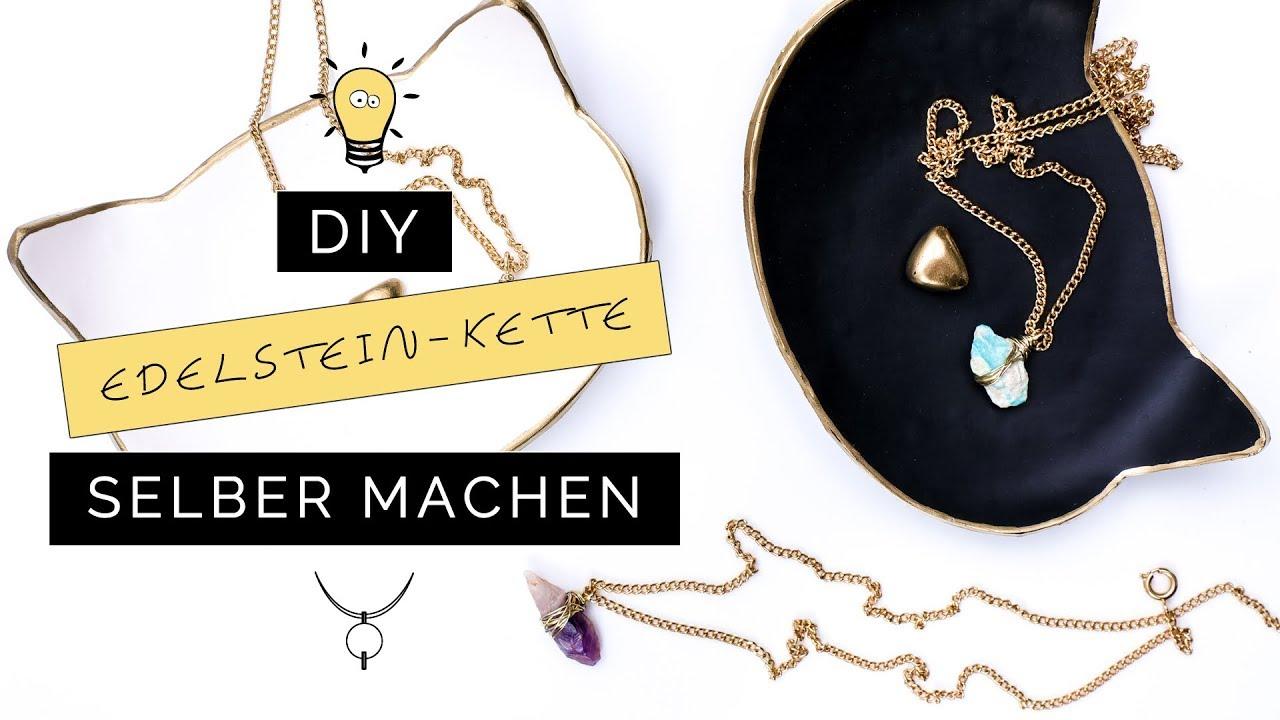 Schmuck selber machen: DIY Edelsteinketten mit Draht | DIY ...