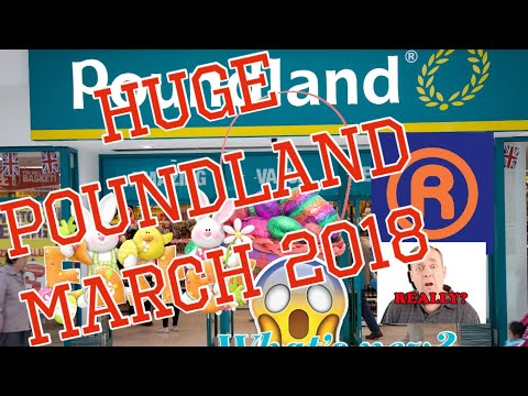 Poundland | Huge Haul | Dollar Tree |Bargains | Disney | Easter | What's New |  March 2018