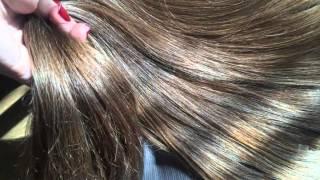 Волосы натуральные, темно-русый. Красиво