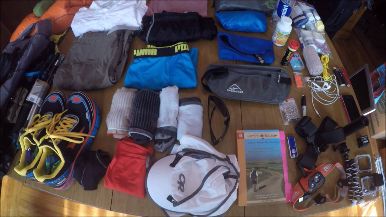 Camino Santiago Packing List Camino De Santiago 2016 Packing List