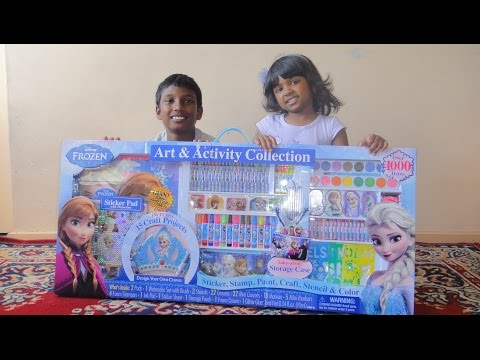 Biggest Frozen Activity Set - Over 1000 Items, Elsa Crown, Anna stamps, Olaf color pens