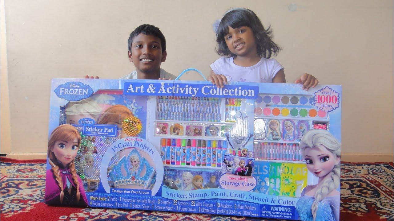 biggest frozen activity set - over 1000 items, elsa crown, anna