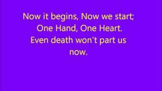 Glee - One Hand One Heart (West Side Story) - Lyrics