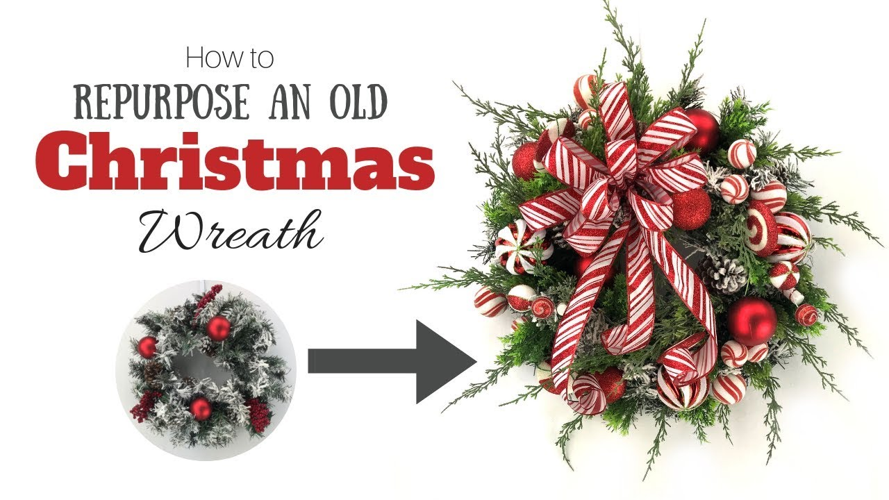 How to Repurpose an Old Christmas Wreath in Less than 30 Minutes ...