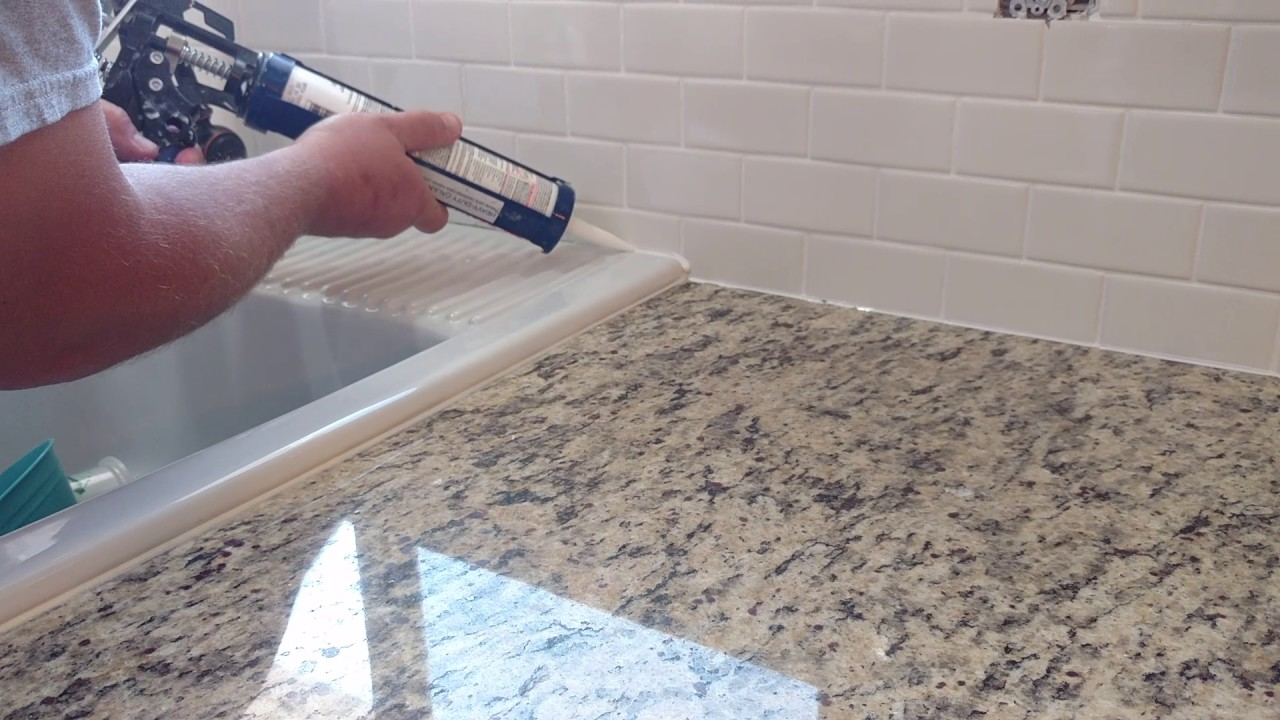 How To Install Silicone Caulk Around Kitchen Countertop