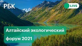 Умный Алтай экология как новая экономика Алтайский экологический форум 2021 Прямая трансляция