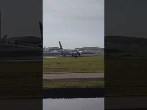 Ethiopian Airlines 787-8 Delivery Takeoff from the Boeing Everett Factory